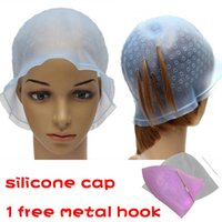 Wholesale New Reusable Hair Colouring Hairdressing Highlighting Dye Cap Hook Frosting with Metal hook