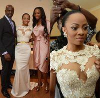 Cheap Real Picture Satin Berta Lace Mermaid Wedding Dresses 2015 Short Sleeve Open Back Robe De Mariage Bride Dress Plus Size Vestidos De Novias