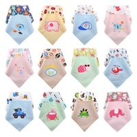 Wholesale Pattern Soft Cheap Cute Cotton Baby Towel Toddler Newborn Triangle Scarf Babero Girls Feeding Smock Infant bibs Burp Cloths