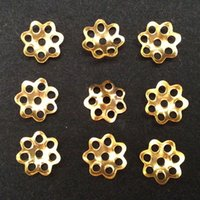 Wholesale 2000pcs Tiny Silver Plated Flower Petal Pattern Hollow Design Bead End Caps mm Jewelry Making DIY Craft Supplies