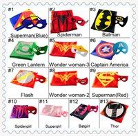 Wholesale 13 Styles cm Superhero Kids Superman Cape Superman Batman Spiderman Supergirl Batgirl Robin kids Christmas Halloween cape hot