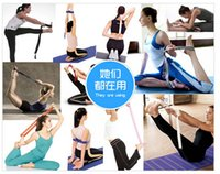 Cheap Good quality Yoga Stretch Strap D-Ring Training Yoga Belt Waist Leg Fitness Exercise Gym 230pcs