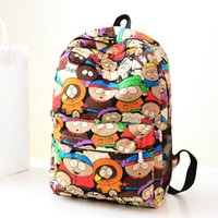 backpack park - brand new Hot Sale Fashion South Park Graffiti Cartoon Pattern Canvas Backpacks Bookbags