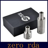 Precio de Atomizador derringer-Zero RDA Atomizer 5ML 23mm Control de flujo de aire Doble bobina SS atomizador cigarrillo electrónico Vs derringer rda atomizador