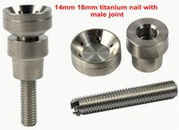 best smoking pieces - Best price domeless titanium nail mm mm GR2 quality with male joint for glass smoking pieces a fast ship