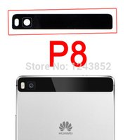 banner camera - For Huawei P8 replacement parts back camera banner glass lens cover white black ORIGINAL