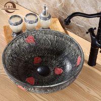 Wholesale Ceramic counter basin basin basin basin counter basin artistic basin wash basin washbasin washbasin Continental Square QJH
