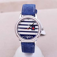 Cheap TG606 KEZZI Brand Women Quartz wristWatch Denim Band Watches Japan Movement Romantic Girl friend Gift Dress Watch With Letter I DO