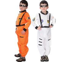 astronaut costume for kids - For cm Boys Children White Orange Spacemen Astronaut Costumes Jumpsuit Discounted Boy Kids Pilot Romper Costume Suit with Belt