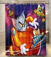 bathroom galleries - NEW ARRIVAL Polyester Tom Jerry Gallery Cartoon x180cm Moden Classical Custom Bath Shower Curtain bathroom Waterproof