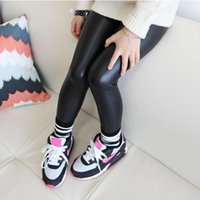 baby skinny pants - Brand New Baby Girl Legging Fashion Full Length Leggings Leather Skinny Pants Girl Leggings Children Pants SV016546