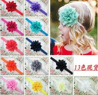 Wholesale Headband For Baby Hadbands Pattern Hair Accessory Europe USA Band For Infant Baby Big Flower Baby Head Band Kids Hair Wear Hot Sale