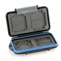 Wholesale F09026 JMT MC Anti shock Waterproof ABS Rubber Memory Card Case Holder Hard Storage Box for x CF x SD Freeship