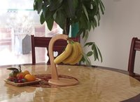 banana holder wood - Creative Wood Fruit Displaying Rack Banana Hanger Grape Holder Kitchen Storage Rack Shelf cabides de piso