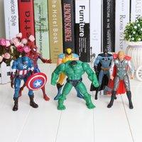 Red action figures batman lot - Cartoon Anime The Avengers quot Captain America Wolverine Thor Spiderman Batman cm Action Figures Toy