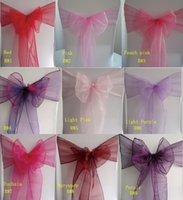 Cheap Organza chair Sash Best Sash Bows