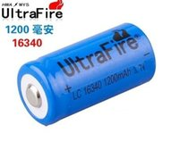 Wholesale 15 OFF Ultrafire MAH V li ion lithium battery cell CR123A rechargeable batteries for led torch laser pointer