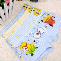 Wholesale Free DHL Despicable Me Minions Kids Underwears Boys Cartoon Boxers Children Underpants Boys Pants Underwear Fit for years Children