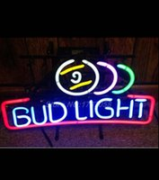 anheuser busch - BUD LIGHT NEON BAR LIGHT pool ball BEER SIGN x13 quot ANHEUSER BUSCH budweiser Avize Nikke Air Jordann Neon Sign Buddweiser