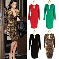 Robes moulantes kardashian France-Robes de travail gaine femmes Kardashian style genou longueur des robes de travail A02