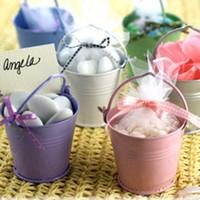 mini bucket - Hot Sale wedding favor Boxes Mix Color mini pails wedding favors mini bucket candy boxes favors