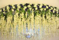 Wholesale The wedding veil decorative flower arch Watercress flower curtain decoration Wisteria hanging branch decoration