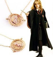 Wholesale Statement Necklaces European and American popular k gold plated harry potter necklace time converter turner hourglass pendant Charms