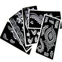 Wholesale 20pcs Henna Tattoo Stencils For Body Painting Mehndi Indian Template Flower Hand Henna Glitter Airbrush Tattoo Stencil
