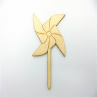 craft embellishments - Windmill shape Wood Shapes Scrapbooking Wooden Veneers Embellishment DIY Craft items for art decoration and gifts