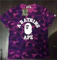 Cheap 2016 summer new wave of brand men's short-sleeved camouflage letter short-sleeve cotton T-shirt men and women hip-hop tide