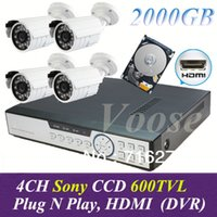 best network monitoring - Best CCTV System TVL ch DVR Kit Security Camera System TVL IR Outdoor Cameras ch Full DVR Network Monitor with TB HDD