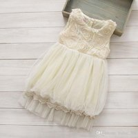 Spring / Autumn baby girl cream cardigan - 2015 baby girl kids lace dress embroidery dress crochet dress D flower floral tutu dress zig zag cardigan coat costumes outfits Beige cream