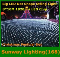 big ac - Big curtain lights m Net LED String light chip led lights Christmas ornament lights Flash Colored Fairy wedding Decor