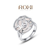 Couple Rings Engagement Tension setting FG ROXI 2014 Chirstmas Gift Platinum Plated Romantic Hollow Opal Ring Statement Rings Fashion Jewelry For Women Party Wedding