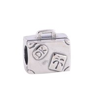 handbags paris - S925 Sterling Silver Screw Hole Travel to Paris Handbag Charm Travel Beads Compatible With European Style Bracelet Fashion accessories