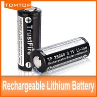 Wholesale TrustFire Protected V mAh Camera Torch Flashlight Rechargeable Battery pairs