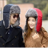 Wholesale Snow Winter Thick Warm Cotton padded Trapper Hat with Mask Cycling Mountaineering For Women Men Solid Knitted Ear Protection Cap K5569