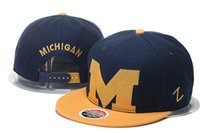 authentic snapback hats - 2016 New Michigan Wolverines Basketball Authentic Cap Letter Embroidery Hip hop Cotton Football hat casual outdoor travel snapback sun hat