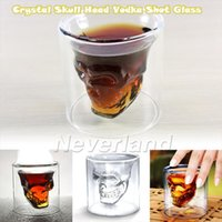 Wholesale 4 Neverland Great Fun Crystal Skull Head Vodka Shot Glass Bottle Bar Beer Drinking Cup Xmas Gift
