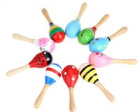 Wholesale Newest Kids Children Toy Musical Instrument Maraca Wooden Percussion Instrument Musical Toy for Party