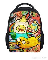 Wholesale Adventure Time Funny Cartoon Anime Kid Student School Bags Child Shoulder Backpack Gift For Girls Boys inches cm High Quality a3