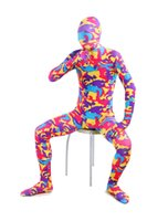 catsuits - Halloween Costumes Funny Red Camouflage zentai suits Lycra Spandex Catsuits cosplay