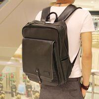 backpacks briefcases - New Genuine Leather Men s Briefcase Backpack Laptop Bag Travel Bag Black