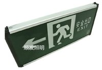 Wholesale Fire emergency lights safety exit indicator LED safety evacuation exit signs plug lights GB