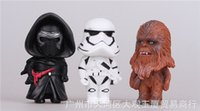 Wholesale Star Wars Action Figure Black Knight Darth Vader Stormtrooper Chewbacca Force awakening Kids Toys gift pvc doll