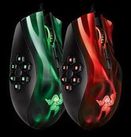 Wholesale High Quality Razer Naga hexagram breathing lights d mouse custom programming key MOBA game mouse Optical Mouse gaming mouse buttons
