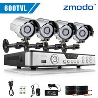 Cheap Zmodo 600TVL 4ch cctv dvr home security camera system 4 Outdoor Indoor day night High Resolution video surveillance camera