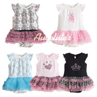 Cheap DHL NEW Baby Girls Romper Jumpers Dress Tutu Tulle Leopard Girl Rompers Dress Sleeveless Cute Princess Baby Rompers Baby Clothing