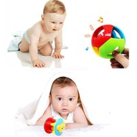 abs development - 2Pcs set Baby Mobile Toy M cute Plastic ABS rattle ball ring bell musical toys Early Educational Development