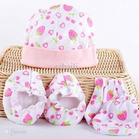 baby foot product - sets Baby warm gloves skin care set hat mittens foot sets cover newborn protection product months free